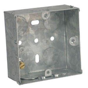 16mm 1 Gang Flush Steel Box