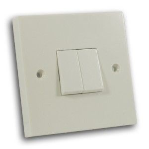 10 Amp 2 Gang 2 Way Switch Off White