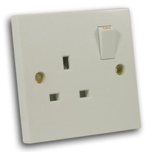 13 Amp 1 Gang DP Switched Socket Off White