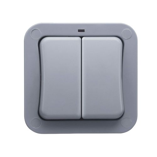 20A Weatherproof Outdoor 2G 2W IP66 Light Switch