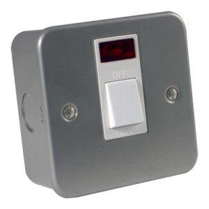 Metalclad 20 Amp Double Pole Switch c/w Neon