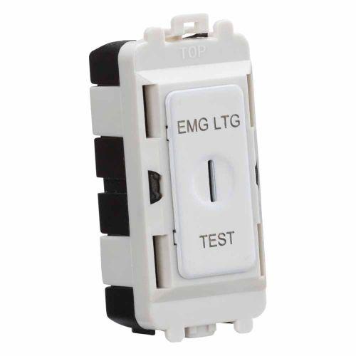 20AX 2 way SP key module marked EMG LTG TEST - matt white