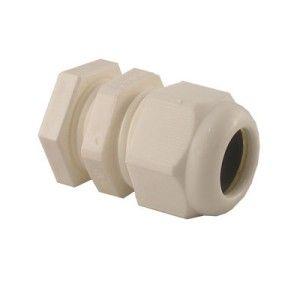 20mm PG Gland White IP68 c/w locknut