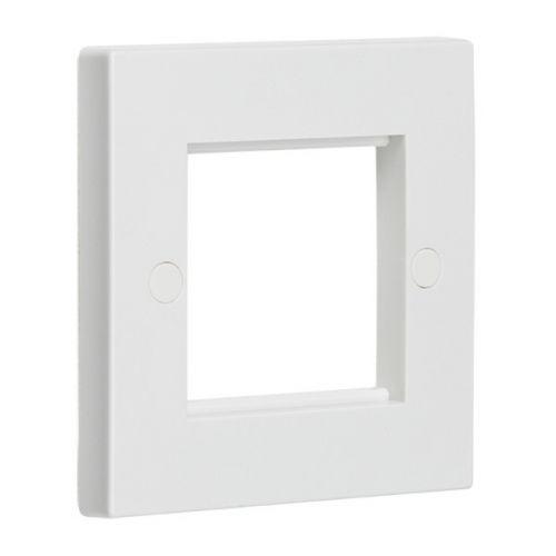 2 Gang Euro Modular Faceplate White