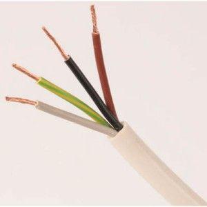4 Core 1.5mm White Flex (100m coil)