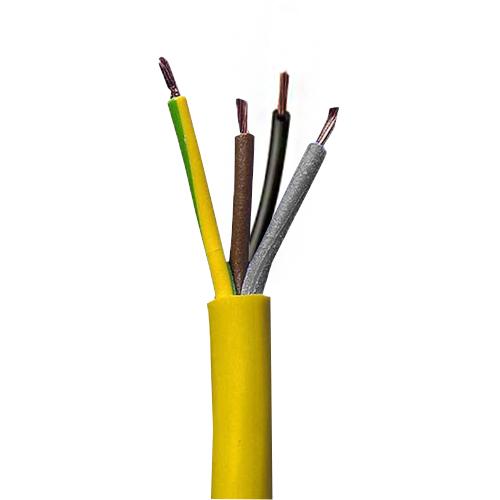 3184Y 4 Core 1.5mm Yellow Flex