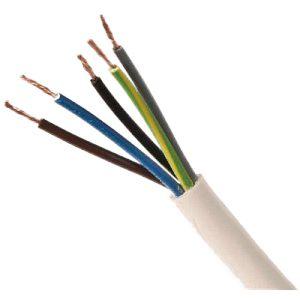 5 Core 1.5mm White Flex (100m coil)