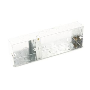 3G 35mm Deep Single & Double Combined Steel Galvanised Back Box
