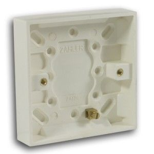 47mm 1 Gang Pattress Box Off White