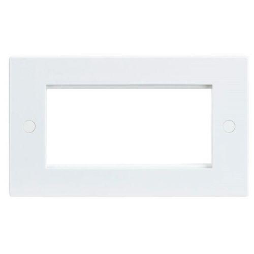 4 Gang Euro Modular Faceplate White