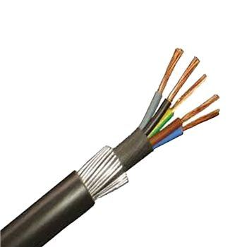 5 Core 10.0mm SWA Cable Blue, Grey, Brown, Black,Green/yellow