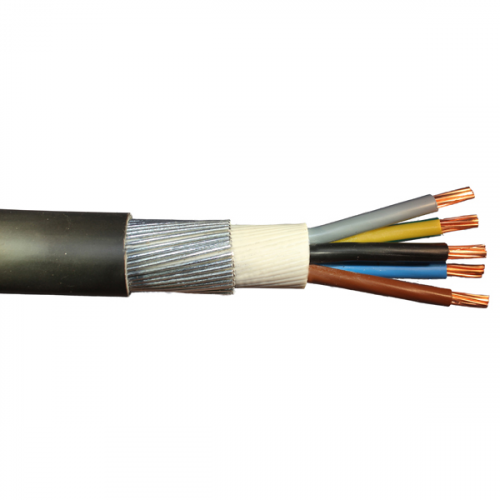5 Core 4.0mm SWA Cable Blue, Grey, Brown, Black, Green/yellow