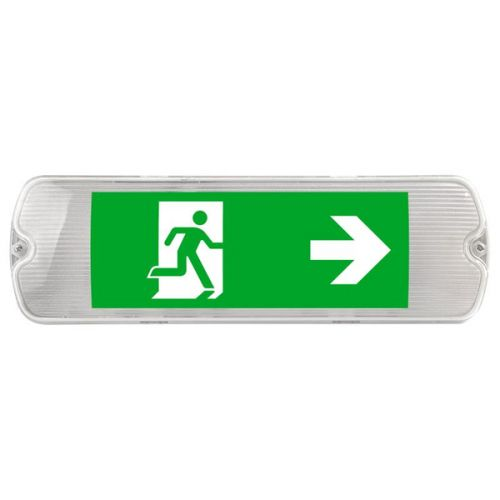 5W IP65 LED Emergency Bulkhead & Sign 6500K