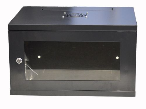 6U 450mm Deep Standard Duty Wall Rack Comms Cabinet