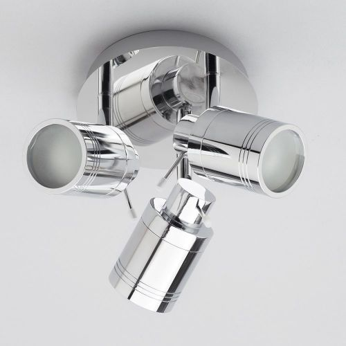 Scorpius Adjustable GU10 3 Light Plate Spotlight in Chrome by Meteor Electrical