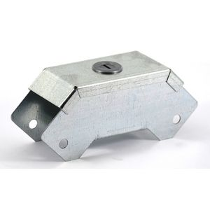 100x100mm Galvanised Trunking 90° External Bend