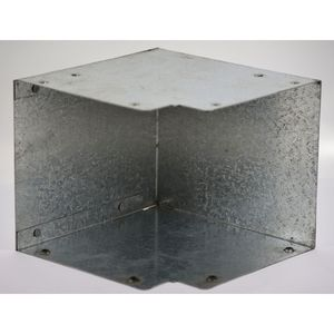 75x75mm Galvanised Trunking 90° Flat Elbow Bend