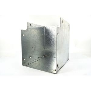 50x50mm Galvanised Trunking 90° Flat Elbow Bend