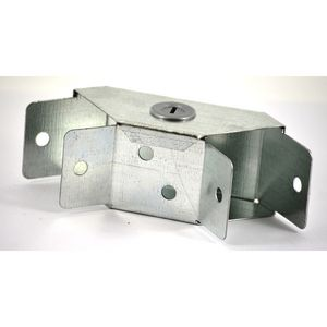 100x100mm Galvanised Trunking 90° Flat Bend