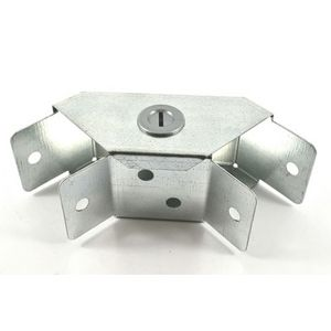 50x50mm Galvanised Trunking 90° Flat Bend