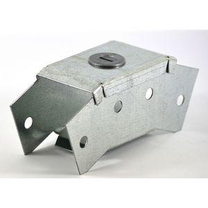 100x100mm Galvanised Trunking 45° External Bend
