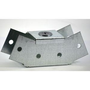 100x100mm Galvanised Trunking 45° Internal Bend