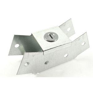 50x50mm Galvanised Trunking 45° Internal Bend