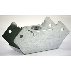 75x75mm Galvanised Trunking 90° Internal Bend