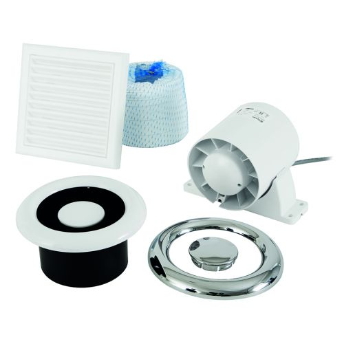 Airline 100 Inline Extract Timer Fan