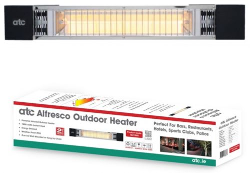 Alfresco 1800W IP55 Outdoor Electric Infrared Heater c/w Bracket
