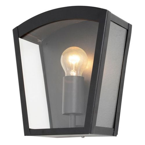 Black Stainless Steel Curved Artemis Outdoor Box Lantern by Meteor Electrical