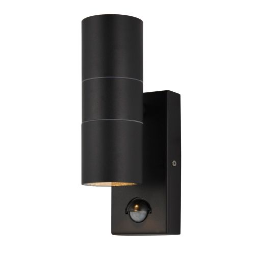 Forum Lighting, Black Up & Down Wall Light with PIR by Meteor Electrical