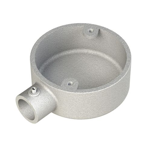 Conlok 20mm Galvanised Steel Circular End Box by Meteor Electrical