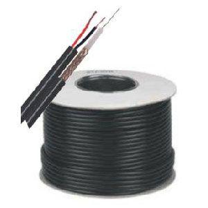 Shotgun Cable RG59 + 2 Power Cables Black