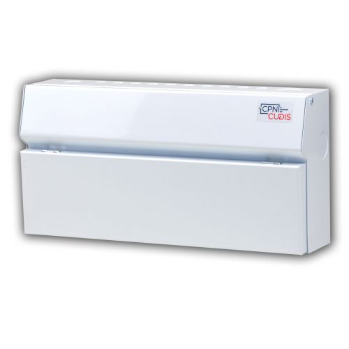Cudis 18 way metal clad consumer unit white