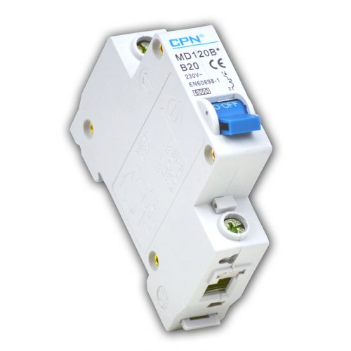 Cudis 20 Amp 6kA Single Pole (Type B) MCB