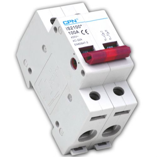 Cudis 2 pole 100A Isolator