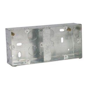 25mm Dual Flush Steel Back Box