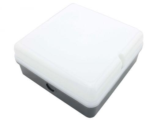 Empty Square Bulkhead - Black Base - HLT Diffuser For LED Tray