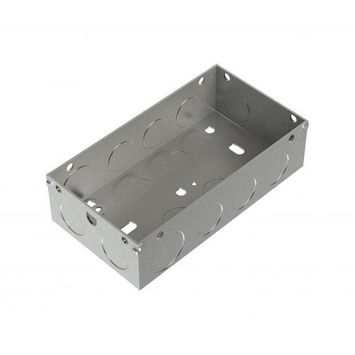 Metpro 35mm 2 Gang Flush Steel Back Box