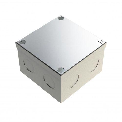 Galvanised Adaptable Box 3x3x2 C/W KO