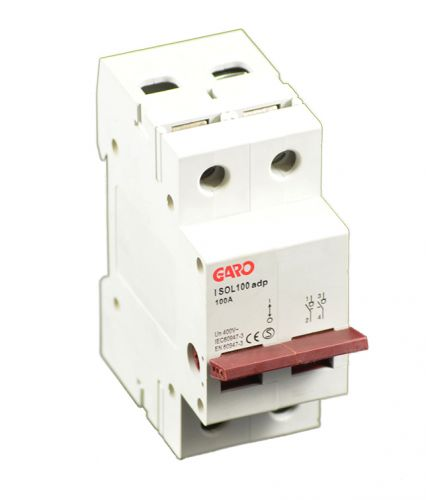 Garo 100A 2 Pole Mains Isolator Switch