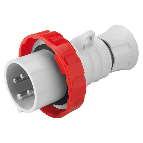 Gewiss 16A Straight Plug, 3P+E, 400V, IP67, Red