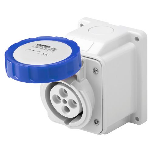 Gewiss 16A Surface Socket,  2P+E, 230V, IP67, Blue