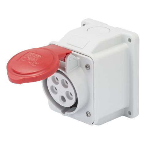 Gewiss 16A Surface Socket, 3P+E, 400V, IP44, Red