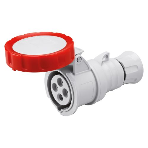 Gewiss 32A Straight Connector, 3P+E, 400V, IP67, Red