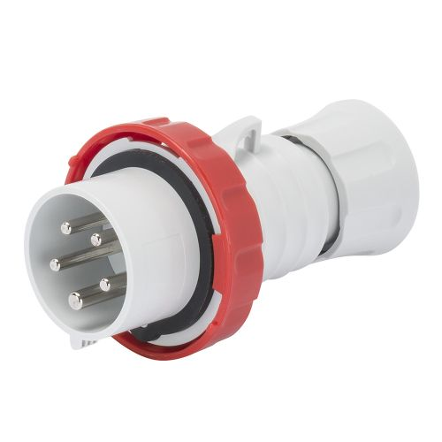 Gewiss 32A Straight Plug, 3P+E+N, 400V, IP67, Red