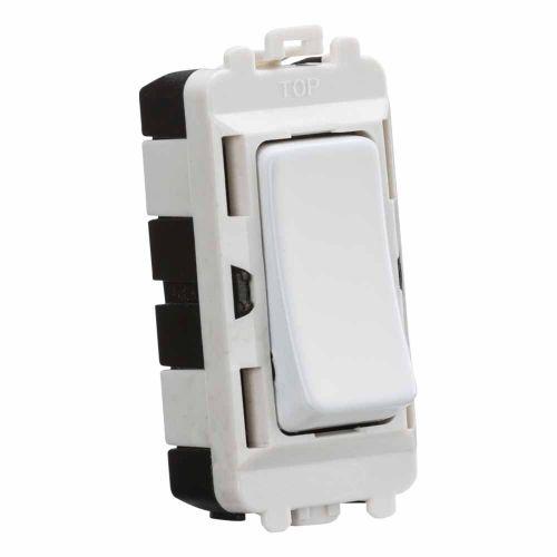 Knightsbridge 20AX DP grid module - matt white by Meteor Electrical