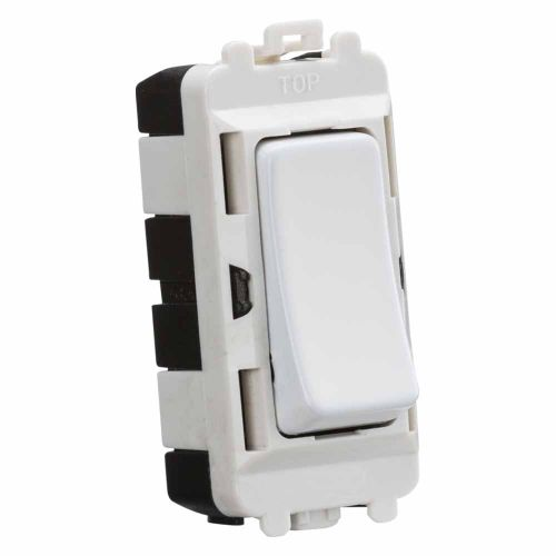 Knightsbridge 20AX intermediate module - matt white by Meteor Electrical