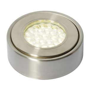 Laghetto LED Under Cabinet Light in Satin Nickel, 3000K by Meteor Electrical